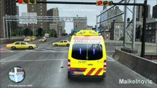 getlinkyoutube.com-GTA4: [Paramedic Mod] - EMS 10-187 - Respond to Fallen Person