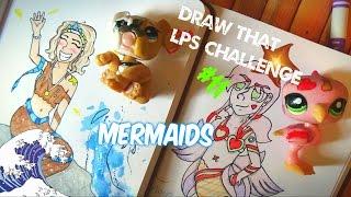 getlinkyoutube.com-Draw That Lps Challenge #11 Mermaids [Human Form]