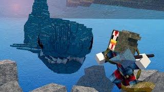 getlinkyoutube.com-Minecraft | MONSTER HUNTING CHALLENGE - SAVING SHARK BAY! (JAWS, SHARKS, SPONGEBOB)