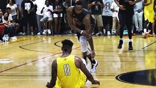 getlinkyoutube.com-James Harden Goes AT Nick Young! INSANE Drew League Championship!