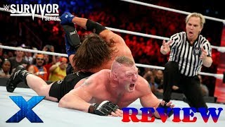 WWE Survivor Series 2017 REVIEW & RESULTS :: AJ Styles vs. Brock Lesnar :: Why The Ending Flopped!