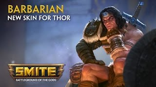 Smite - New Skin for Thor - Barbarian