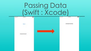 How to Pass Data from View Controller (Swift : Xcode)