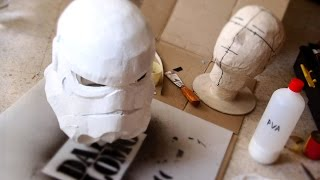 getlinkyoutube.com-#77: Stormtrooper Helmet Part 3 - Paper-mache, Filler & Ears | Costume Prop | How To | Dali DIY
