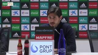 Rueda completa de Víctor Sánchez del Amo previa al Atlético-Betis