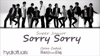Super Junior - Sorry, Sorry {Color Coded Lyrics- Han|Rom|Eng}