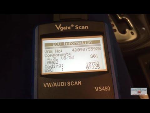 Vgate Scan VS450 test - VW Audi scan tool - Audi S6 4.2 V8