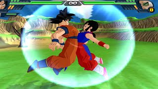 getlinkyoutube.com-Goku and Chichi (Milk) Fusion | Kid Gohan vs Raditz  DBZ Budokai Tenkaichi 3 (MOD)