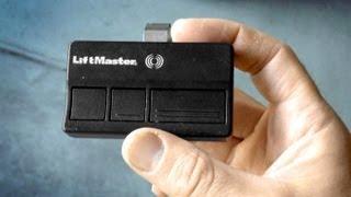 How to program a Garage Door Remote & change battery LiftMaster Chamberlain