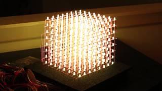 getlinkyoutube.com-How To RGB 8x8x8 LED CUBE - DEMO!