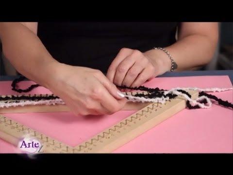 Cómo tejer un chal en bastidor triangular