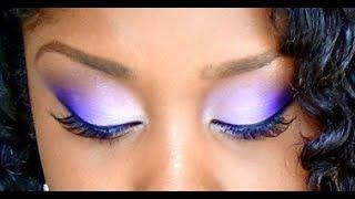 getlinkyoutube.com-How To Easily Blend Eyeshadow Colors ( Purple Makeup Tutorial ) Drugstore Products used!