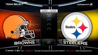 getlinkyoutube.com-MADDEN NFL 15 PS4 Full Gameplay: Browns vs Steelers - Week 1 NFL Regular Season Matchup Simulation