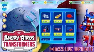 getlinkyoutube.com-Let's Play Updated Angry Birds Transformers - New Levels, Squads, Outfits, Grey Slam Grimlock
