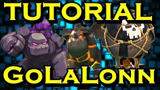getlinkyoutube.com-Tutorial GoLaLoon em detalhes!!!Aprenda como fazer um 100%em CV9 com Golem, LavaHound e Balões!!
