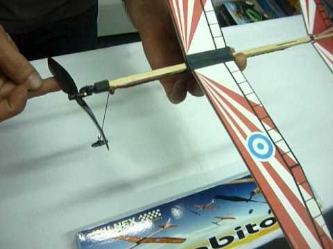 jugueteria antonio hobby avion propulsion a goma madera balsa cabito en la plata