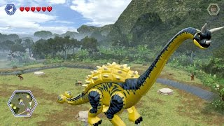 getlinkyoutube.com-LEGO Jurassic World - Customize | Create Dinosaur Brachiosaurus | Free Roam Gameplay [HD]