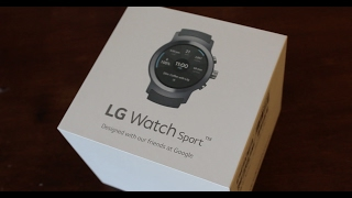 LG Watch Sport Unboxing