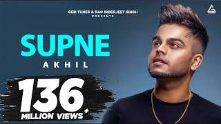 Supne - Akhil | Official | Full Video Song | Latest Punjabi Love Songs | Yellow Music