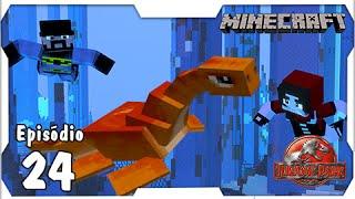 getlinkyoutube.com-Minecraft Jurassic Park #24: Plesiossauro Nosso Novo Aquático [Dino Cube]