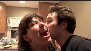 KISSING MY FRIENDS MOM!!   David Dobrik