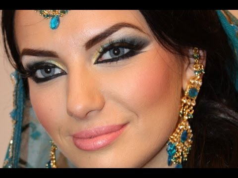 Exotic Arabic Makeup Tutorial Princess Jasmine Makeup  ماكياج العربي