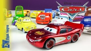 getlinkyoutube.com-Disney Pixar Cars Diecast Toys Part 1 Mattel with Mcqueen Mater Guido Luige New カーズ 2015