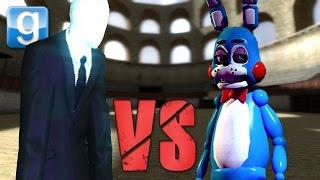 getlinkyoutube.com-TOY BONNIE vs SLENDERMAN!!! | Gmod NPC Battle Arena #2