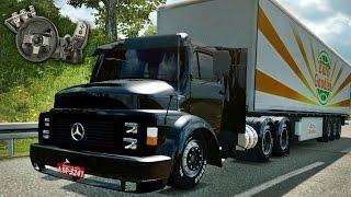 getlinkyoutube.com-Euro Truck Simulator 2 - Mercedes Benz 1113 - Ronco louco! - Quebrada de asa! - Com Logitech G27
