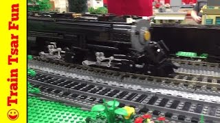 getlinkyoutube.com-Awesome LEGO Trains on PENNLUG Layout Philly Brick Fest Live 2016