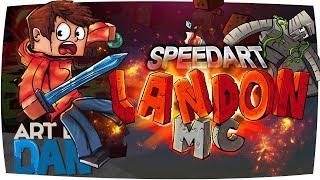 getlinkyoutube.com-YouTube Minecraft Banner Speed Art - LandonMC