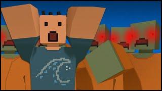getlinkyoutube.com-Unturned 3.0 Zombie Horde Mode - BLOOD EVERYWHERE! (Horde Map Funny Moments Gameplay)