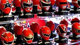 getlinkyoutube.com-Sentai Mask Collection Display Case! (Power Rangers Helmets)