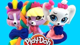 getlinkyoutube.com-Плей до пластилин набор Маленький зоомагазин  Play doh set Littlest Pet Shop учим английскиt слов