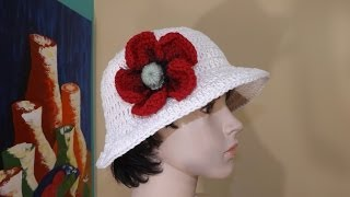 getlinkyoutube.com-Crochet Sombrero de sol