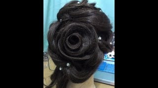 getlinkyoutube.com-Rose Design Hairdo I