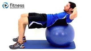 getlinkyoutube.com-Challenging Exercise Ball Ab Workout - Physioball Workout for the Core