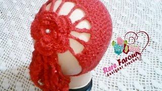 getlinkyoutube.com-كروشيه بندانه السلاسل بطريقه سهله \ربطه للشعر \خيط وابره \crochet easy headband - Hair Bandana