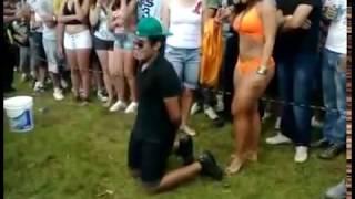Girlfriend Catches Her Man Getting A Lap Dance From Brazilian Woman!