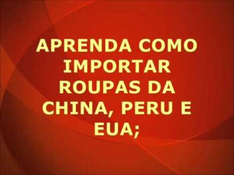 Roupas importadas, como comprar da China, Peru e EUA
