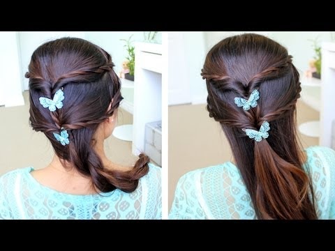 Fancy Rope Braid Half-Updo Hairstyle Hair Tutorial