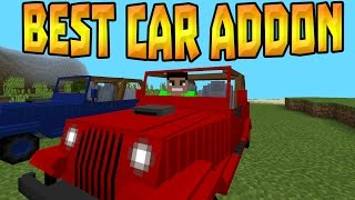 getlinkyoutube.com-DRIVING CARS in MCPE 1.0!!! - Best Car Addon - Minecraft Pocket Edition