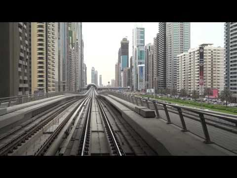 [dubai] Dubai Metro Union - Burj Khalifa view from Gold Class [1080/60p recording by DSC-HX9V]