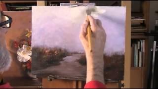 getlinkyoutube.com-Birches by a stream  Acrylic  Pt 1