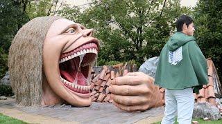 getlinkyoutube.com-進撃の巨人、USJに15メートル級巨人登場! 「進撃の巨人・ザ・リアル」 #Attack on Titan #Manga