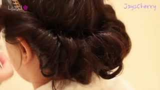 getlinkyoutube.com-تسريحة شعر بسيطة للحفلات