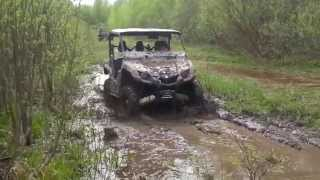 getlinkyoutube.com-Yamaha Viking 700 and Yamaha Grizzly 700 limited edition  in mud
