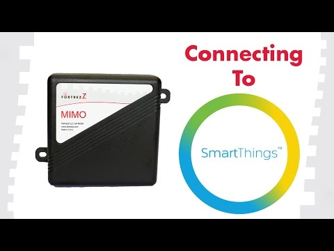 How To Connect To SmartThings: FortrezZ MIMO2+