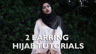 getlinkyoutube.com-2 Earring Hijab Tutorials