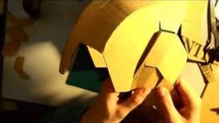 getlinkyoutube.com-#32: Iron Man Mark 42 Helmet DIY 4b/8 - extra, connecting jaw (cardboard)